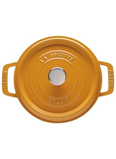 Zwilling Staub 405106450 2,2 Litre 20 Cm Hardal Sarısı Yuvarlak Döküm Tencere Hardal